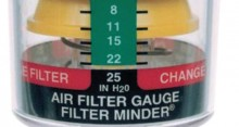 diesel air filter replacement gauge