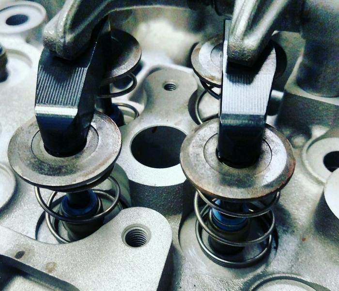 Custom Duramax valve bridge.
