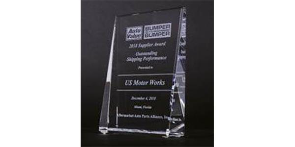US Motor Works Receives 2018 Alliance Supplier Award