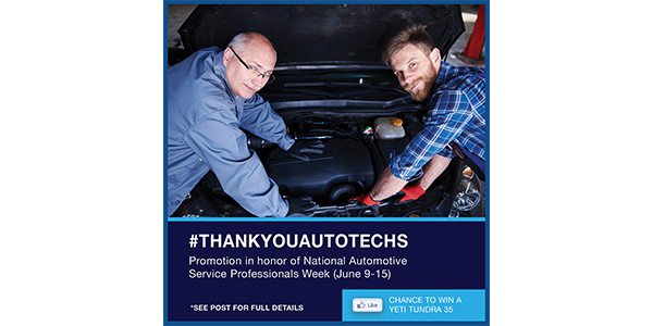 MAHLE Service Solutions Announces Facebook Promotion In Recognition Of National Automotive Service Professionals Week