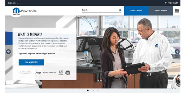 Mopar Launches Redesigned US Brand Website