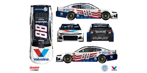 Alex Bowman To Drive Valvoline American Heroes Paint Scheme In Independence Day Weekend Race At Daytona