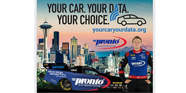 'Your Car. Your Data. Your Choice.' Partners With National Pronto Association At NHRA Northwest Nationals