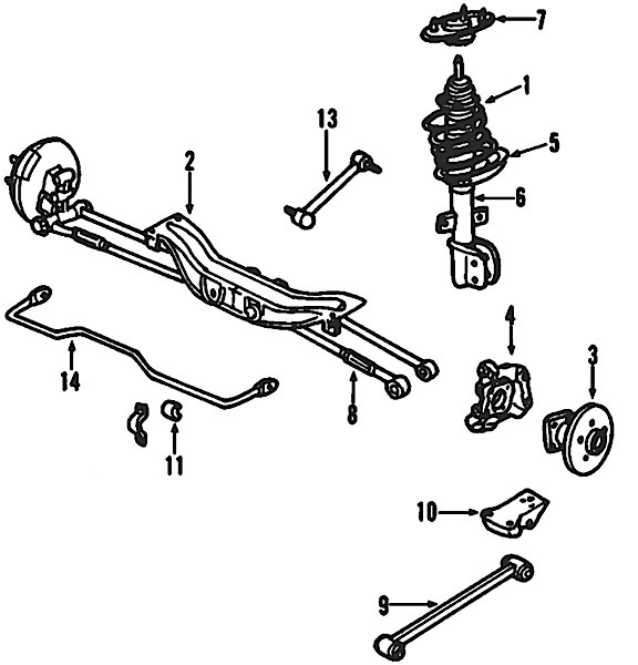 2002 buick century suspension