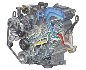 ford 4 0l v6 engine explorer sohc timing chain rh underhoodservice com Ford 4.0 SOHC Engine Diagram Briggs Stratton Engine Wiring Diagram