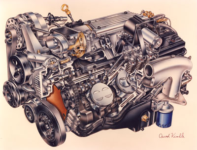 tech feature cooler heads prevail pouring over gm s lt1 engine rh underhoodservice com LT1 Engine Specs LT1 Engine Specs