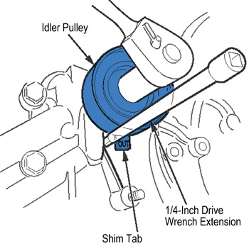 Install A New Timing Belt Drive (gear) Pulley (see Figure 5).