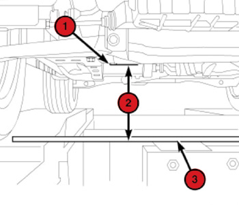 suspension \u0026 alignment specs 2007 2010 dodge caliberfront \u2013 on each side of the vehicle, measure the distance (2) from the lower control arm rear (vertical) pivot bolt head (1) to the floor or alignment