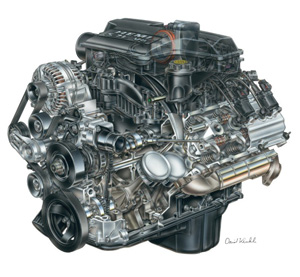 2005 5.7l v8 hemi engine from chrysler.